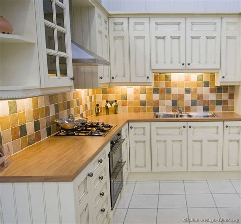 kitchen backsplashes for white cabinets pictures of kitchens traditional white antique