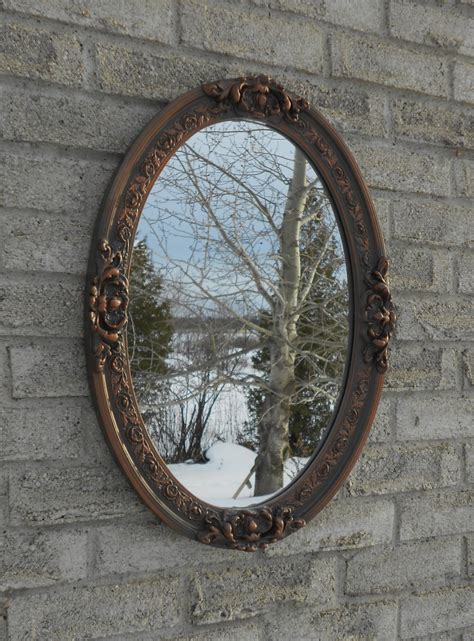 Wall Oval Mirror With Oil Rubbed Bronze Color Frame Bathroom Bronze Mirror For Bathroom