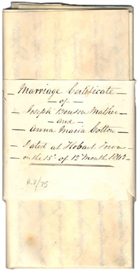 Marriage Records Tasmania Friends And Families Quaker In Tasmania