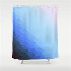 Blue Ombre Curtains Blue Ombre Shower Curtain By 2sweet4words Designs Society6