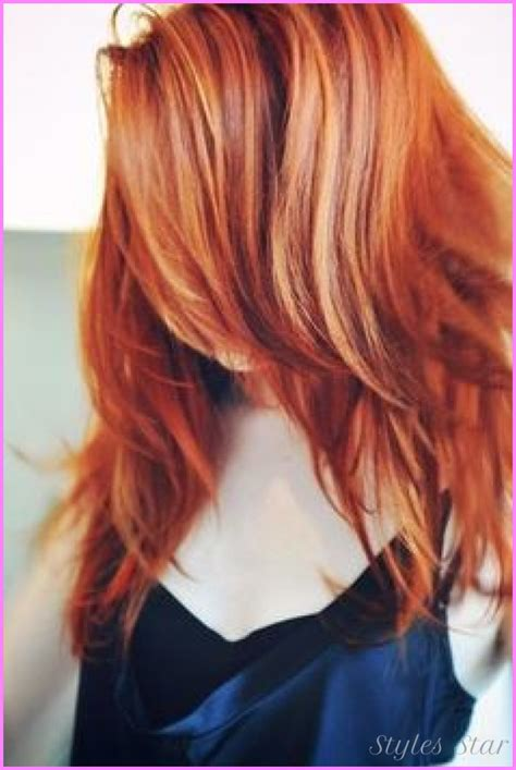 natural red lowlights with blonde highlights highlights and lowlights for red hair stylesstar com