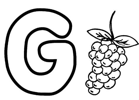 G Coloring Page & Coloring Book