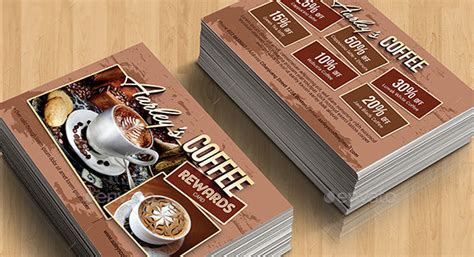 Coffee Rewards Card Template by Loyalty Card Template 12 Great Designs To Use Now