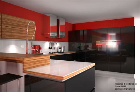 Kitchen Render by Kitchen Living Room Rendering By Cenk Kara At Coroflot