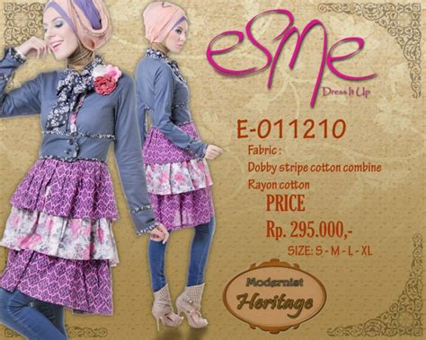 Baju Atasan Wanita Kici Plum Terlaris esme price e 011210 baju muslim gamis modern