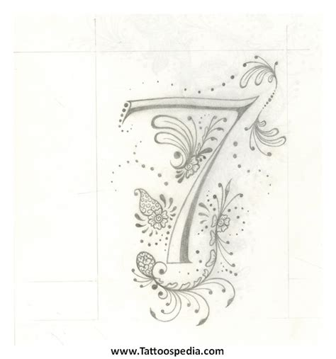 number 7 tattoo designs number 7 tattoos designs 4