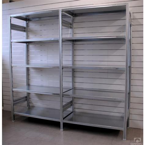scaffale magazzino scaffalatura magazzino zincata 100x80x150h castellani shop