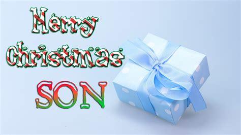 merry christmas son christmas  card ecard youtube