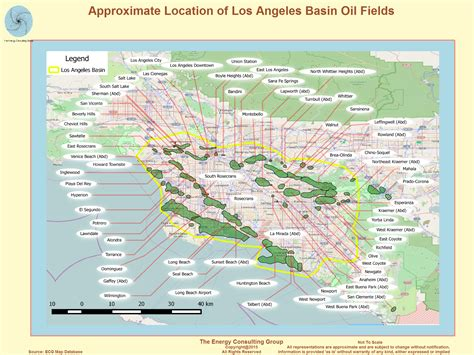 map of los angeles basin californian and gas overview map