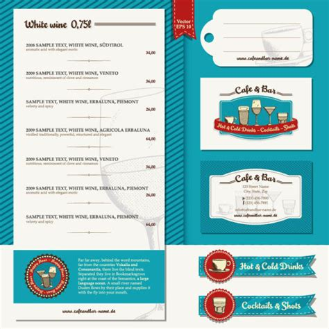 menu design label restaurant menu label template 03 vector material