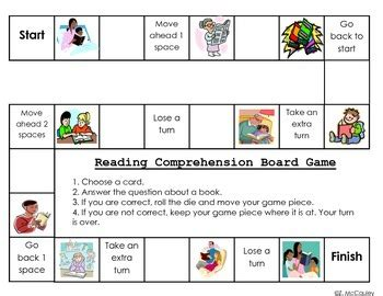 printable reading comprehension board games fiction and nonfiction reading comprehension board game by