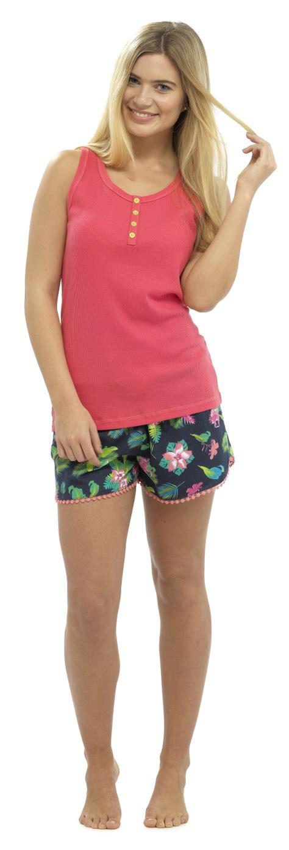 Pyjamas Set Toppants Size Ml womens pyjamas vest top and shorts set 2 pjs