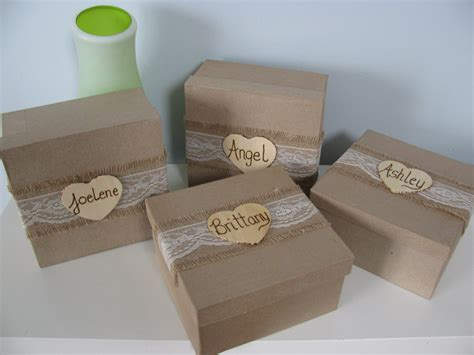 Handmade Bridesmaid Gifts - sale rustic personalized bridesmaid gift box set of 2 jewelry