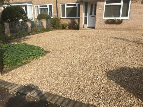 schotter einfahrt bespoke gravel driveway for a house in thame oxfordshire