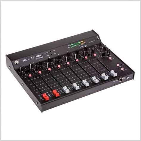 Large L Desk psc solice mini mix linear fader mixer pinknoise pro