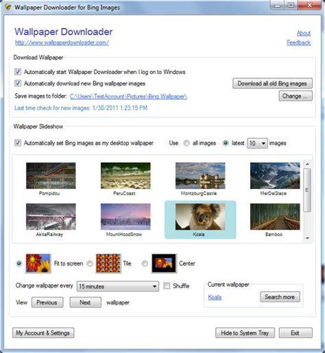 Wallpaper Downloader : les images de Bing sur votre fond d