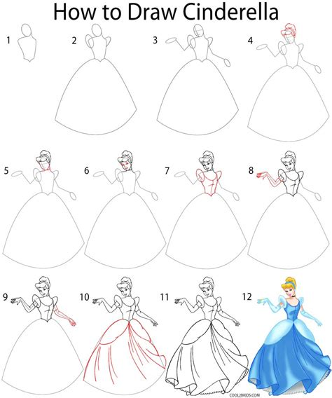 how to how to draw cinderella how to draw cinderella stepstep