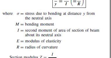 second moment of area i section bending stress science universe physics articles