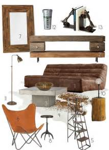 creating a warm industrial living room decor style