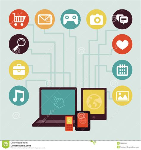 application design vector vector concept mobile app infographics stock vector