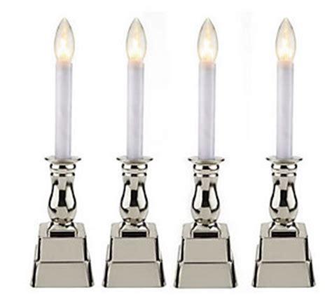 Bethlehem Lights Set Of 4 Battery Op Window Candles Qvc Com