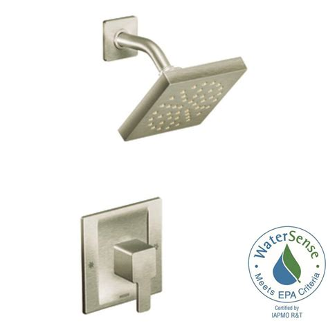 Moen 90 Degree Shower by Moen 90 Degree 1 Handle Shower Faucet Trim Kit In Brushed Nickel Showerhead And Valve Not
