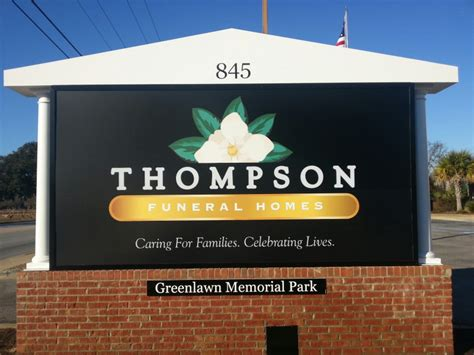 thompson funeral home at greenlawn memorial park puts up