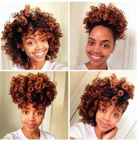 hot rods on relaxed hair 15 short natural haircuts for black women short