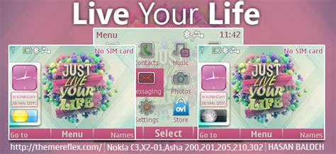 live themes for asha 200 live your life theme for nokia c3 00 x2 01 asha 200 201
