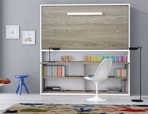 armoire lit bureau escamotable armoire lit spacio avec bureau couchage 90 190 20 cm