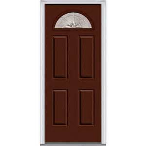 30x80 Exterior Door Mmi Door 30 In X 80 In Heirloom Master Left Fan Lite 4 Panel Classic Painted Steel