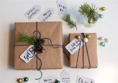 Craft Paper Gift Wrap - crafts eager to transform your home this winter
