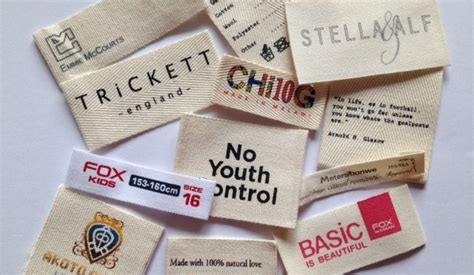 Tags For Handmade Clothes - cotton clothing labels made in 100 cotton