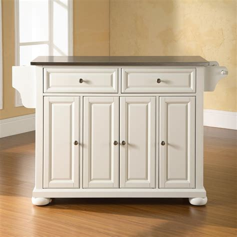 crosley kitchen island shop crosley furniture white craftsman kitchen island at lowes