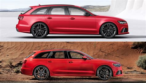 audi wagon 2015 2015 audi rs6 avant facelift photo comparison subtle