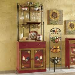 Rooster Bakers Rack