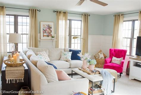 Decorations Ideas For Living Room - blue pink living room decorating ideas four