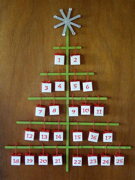 How To Make A Paper Advent Calendar - craft stick tree advent calendar with origami