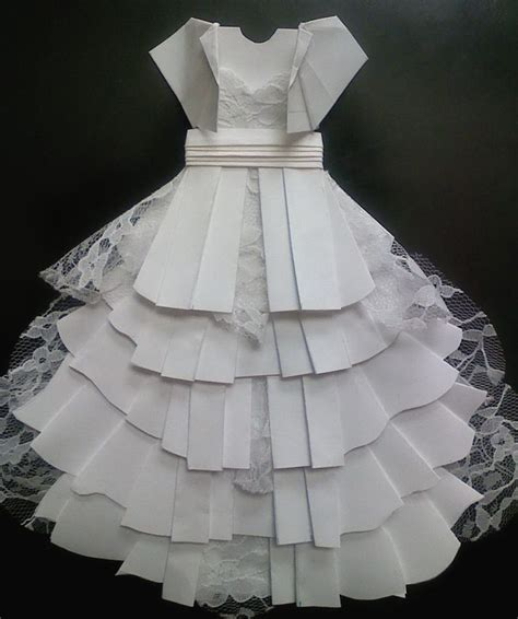 Origami Wedding Dress - 25 best ideas about origami dress on how to