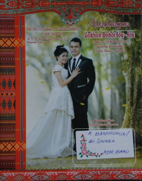 desain undangan pernikahan adat batak 18 desain undangan pernikahan batak paling ngetren