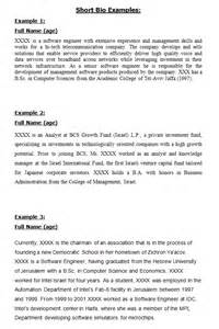 How To Write A Personal Biography Template by 45 Biography Templates Exles Personal Professional