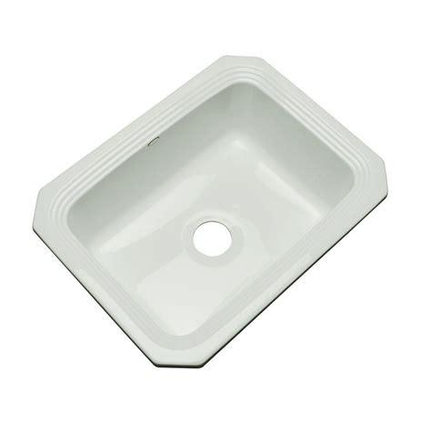 Grey Kitchen Sink Thermocast Rochester Undermount Acrylic 25 In Single Basin Kitchen Sink In Grey 25080 Um