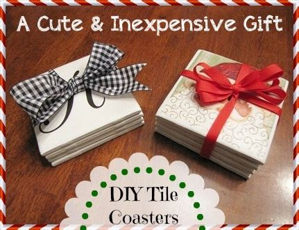 easy inexpensive gifts to make inexpensive diy hostess or gift tile coasters beneath my