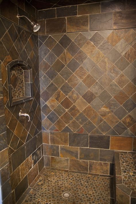 Slate Tile Bathroom Designs by New Slate Bathroom