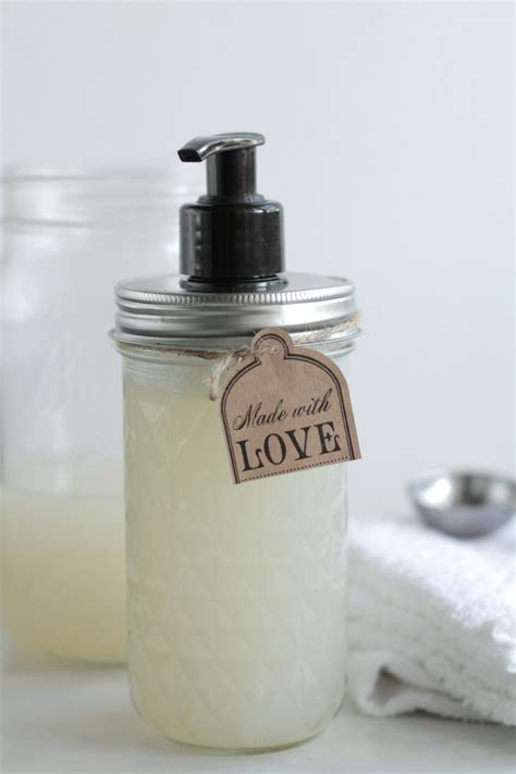 Handmade Liquid Soap Recipes - diy liquid soap live simply