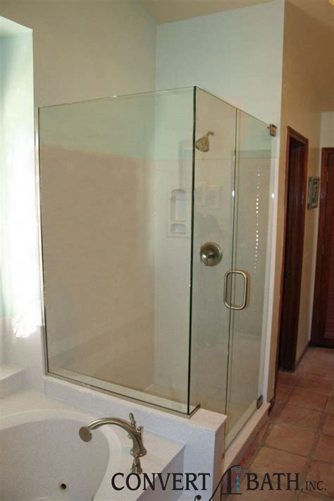 bath shower doors glass frameless frameless glass convertabath 174