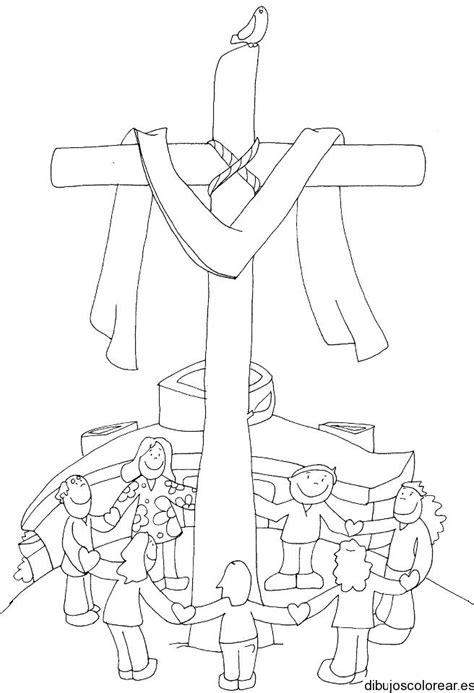 dibujos para colorear de la cruz dibujos para colorear cruz de mayo imagui
