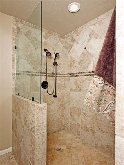 tile shower without door showers without doors home design ideas pictures remodel