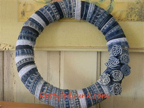 denim crafts projects craft a denim wreath with seams from
