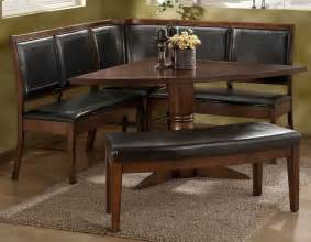 Kitchen Bench Table Sets Style Vintage Oak Triangle Shaped Breakfast Nook Dining Table With Banquette And Bench With